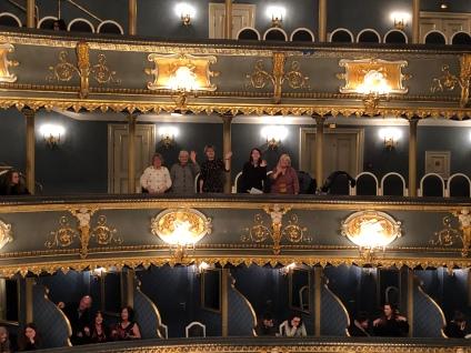 Watching a ballet at Estates Theatre, Prague (Credit: Louise Smith)
