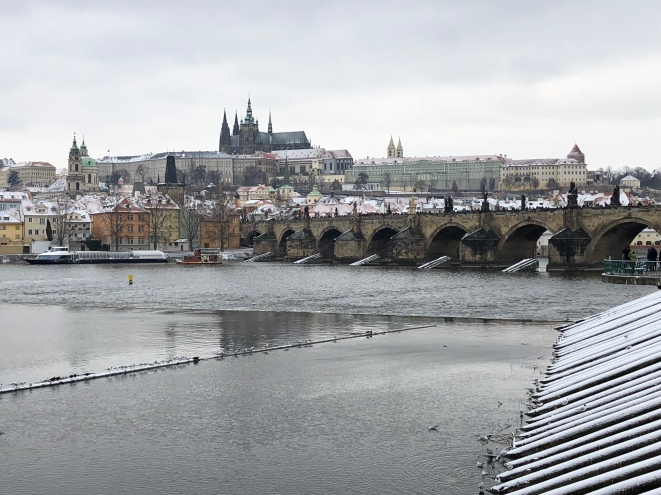 Cold and snowy in Prague (Credit: Louise Smith)