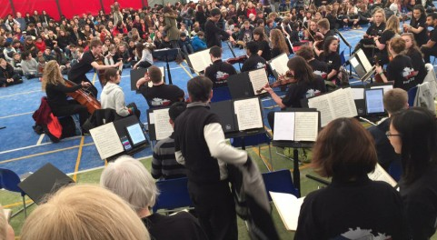 Concert at Prague British School (Credit: Rhys Williams)