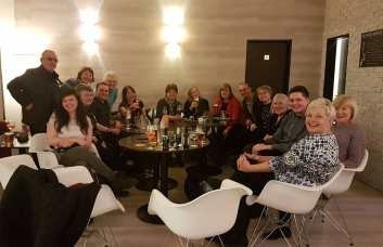 A group of Chorus in the hotel bar (Credit: Alex Kaye)