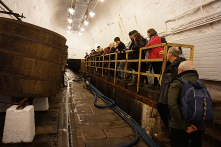 About to have beer tasters at Pilsner Urquell Brewery (Credit: Colin Davis)