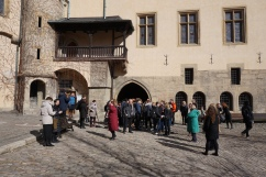 Waiting to go on Silver Mint tour in Kutná Hora (Credit: Colin Davis)
