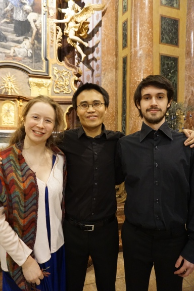 Concert at St John of Nepomuk Church, Kutná Hora. Conductor James Ham. Soloists Naomi Awre and Ed Daly (Credit: Colin Davis)