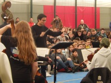 Concert at Prague British School (Credit: Peter Lamb)