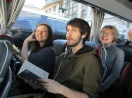 On the coach (Credit: Cynthia Barnes)
