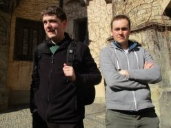Two Chorus tour leaders Jonathan and Rhys in Kutná Hora (Credit: Cynthia Barnes)