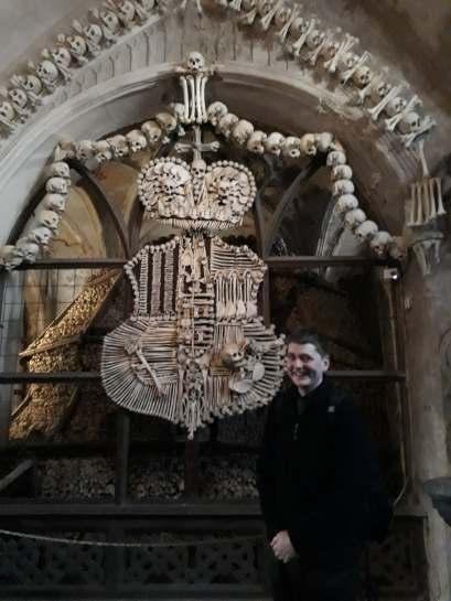 In Sedlec Ossuary (Bone Church), Kutná Hora (Credit: Laura Elwyn)